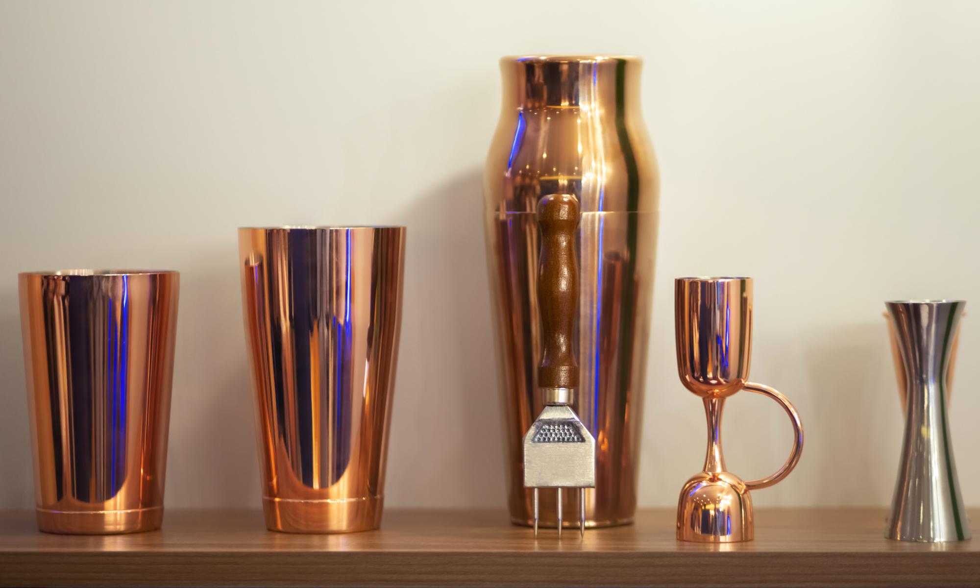 martini shakers copper sexy home decor