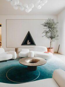 Rterior-studio-westside-la-cocktails-interiors-triangle-fireplace-moon-like-interior
