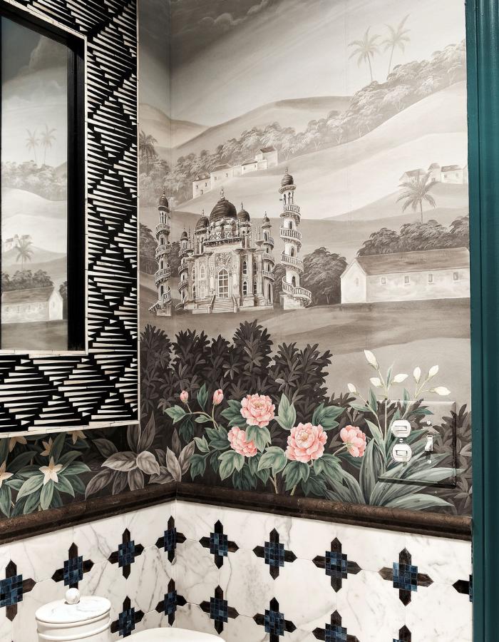 rterior-studio-downtown-la-gracie-handpainted-wallpaper-corner-of-bathroom-project-featuring-handpainted-wallpaper