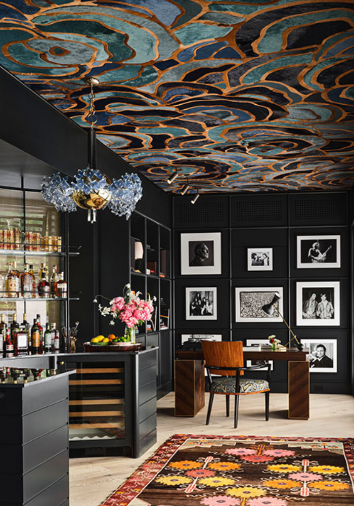 rterior-studio-westside-la-cocktails-and-interiors-peppertini-charcoal-walls-with-black-and-white-photos-wallpaper-ceiling