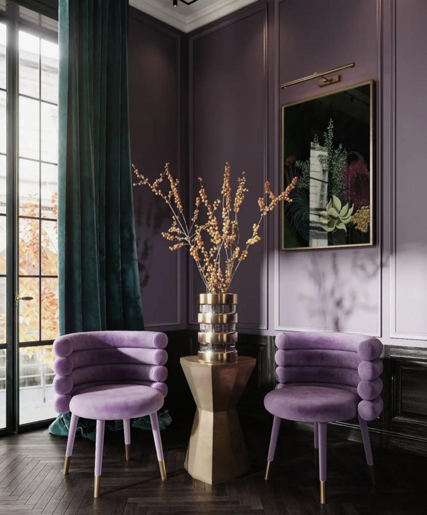 rterior-studio-santa-monica-ca-cocktails-and-interiors-amaretto-cardamom-coctail-corner-with-lavender-waalls-velvet-chairs